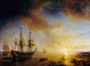 «Ла Саль в поисках устья Миссисипи», картина 1844 года