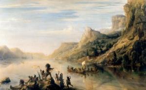 Путешествие Жака Картье по реке святого Лаврентия в Канаде в 1535 году (Жан Антуан Теодор Гюден)