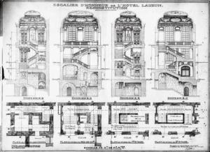 Отель де Лозен. План особняка