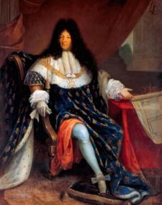 Людовик XIV с планом поместья Св Людовика в Сен-Сир (Николя-Рене Жоллен старший)