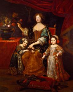 Луиза де Лавальер с детьми от Людовика XIV