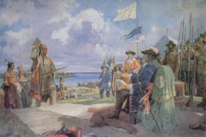 Встреча графа Фронтенака с ирокезами в форте Фронтенак.