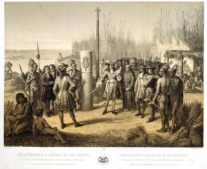 Вступление Кавелье де Ла Саля [из Руана] во владение Луизианой и рекой Миссисипи от имени Людовика XIV, 9 апреля 1682 года