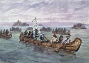 Губернатор Фронтенак прибывает в Квебек
