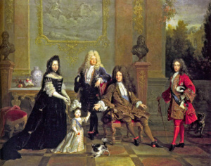 Людовик XIV с семьей (Николя де Ларжильер)