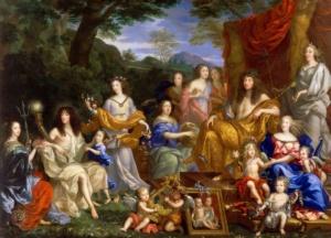 Аллегорический портрет семьи Людовика XIV (Жан Нокре 1670)