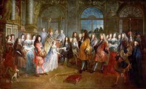 Бракосочетание дофина Людовика Французского и Марии-Аделаиды Савойской 7 декабря 1697 (Антуан Дьё)